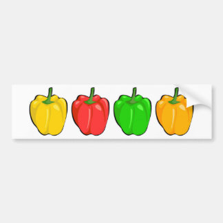 Colorful Bell Peppers Bumper Sticker