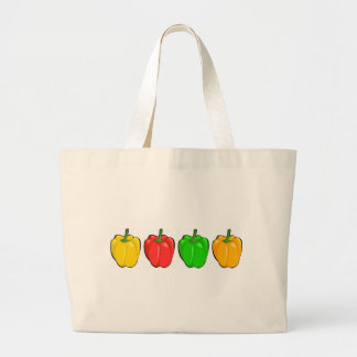 Colorful Bell Peppers Large Tote Bag