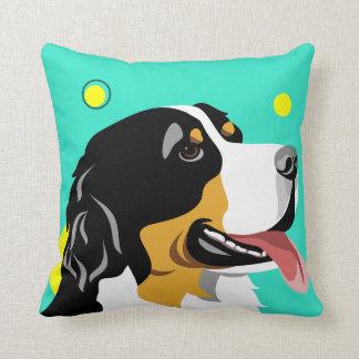 Colorful Bernese Mountain Dog Lover Pillows