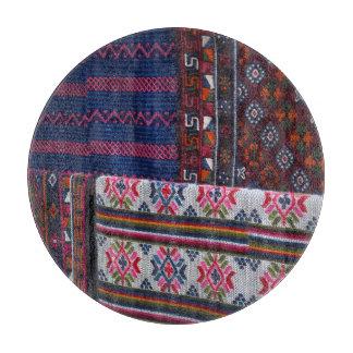 Colorful Bhutan Textiles Cutting Board