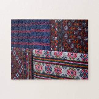 Colorful Bhutan Textiles Jigsaw Puzzle