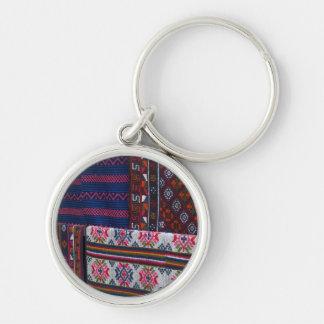Colorful Bhutan Textiles Key Ring