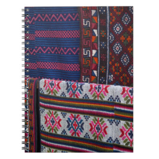 Colorful Bhutan Textiles Spiral Notebook