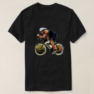 Colorful Bicycle Rider With Your Personal Name T-Shirt