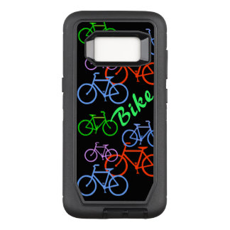 Colorful Bicycles on Black OtterBox Defender Samsung Galaxy S8 Case