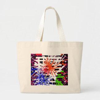 Colorful big bang large tote bag