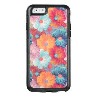 Colorful big flowers artistic floral background OtterBox iPhone 6/6s case