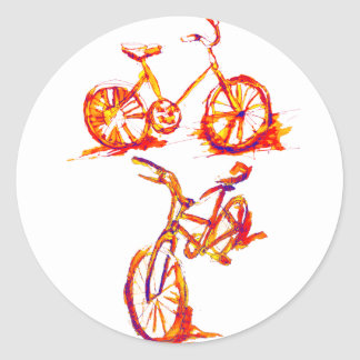 Colorful Bike Designs Sticker