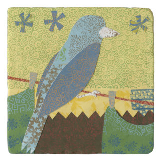 Colorful Bird on a Wire Trivet