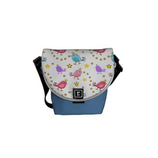 Colorful Bird Pattern Rickshaw Messenger Bag