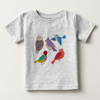 Colorful Birds Baby T-Shirt