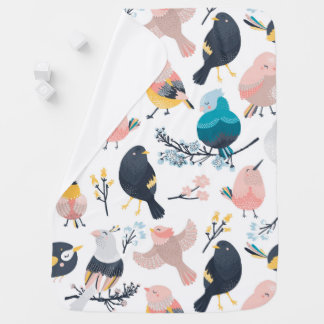Colorful Birds design Baby Blanket