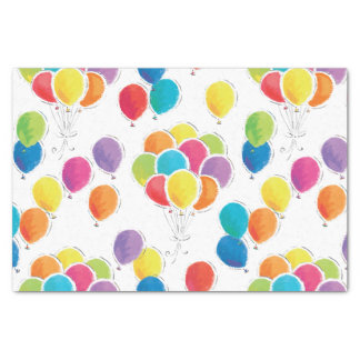 Colorful Birthday Balloons Tissue Paper