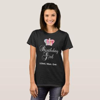 Colorful Birthday Girl Shirt for Mom