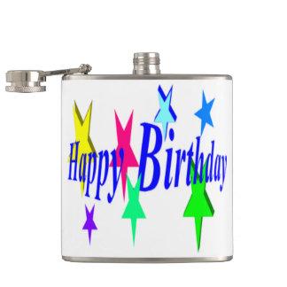 Colorful Birthday Hip Flask