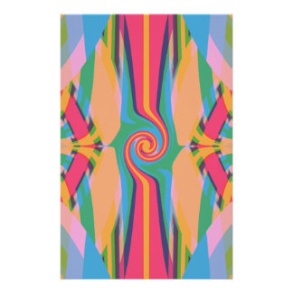 Colorful Bizarre Stationary Paper