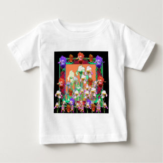 Colorful Black Iris Garden Art design by sharles Baby T-Shirt