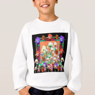 Colorful Black Iris Garden Art design by sharles Sweatshirt