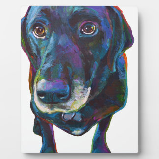 Colorful Black Labrador Plaque