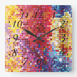 Colorful Bling Design Wall Clock
