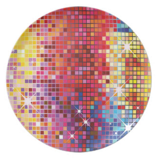 Colorful Bling-Plate Plate