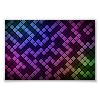Colorful block maze poster