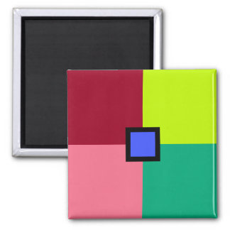 Colorful Blocks Square Magnet