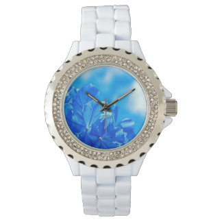 Colorful Blooming Bluebells Rhinestone Watch