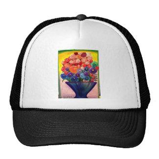 Colorful Blooms design Cap