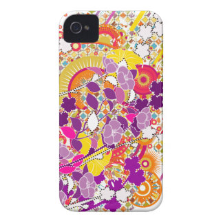 Colorful Blooms iPhone 4 Case-Mate Case