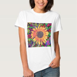 Colorful Blossom Babydoll Shirt