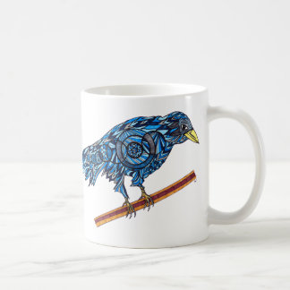 Colorful Blue Crow Mug