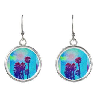 Colorful Blue Florida Drop Earrings