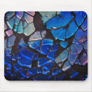 Colorful Blue Glass Mosaic Mouse Pad