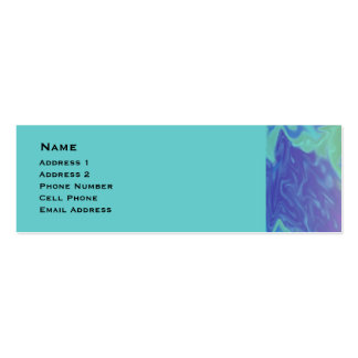 Colorful Blue Green Abstract Business Card Templates
