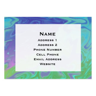Colorful Blue Green Abstract Business Card Template