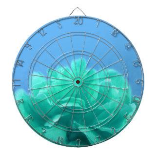 Colorful Blue Green Floral Dartboard