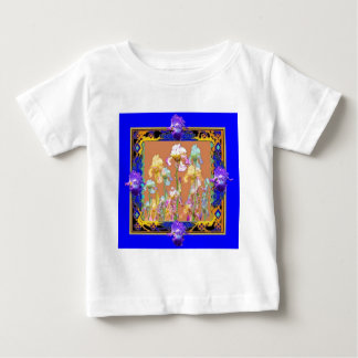 Colorful Blue Iris Garden by Sharles Baby T-Shirt