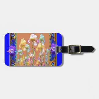 Colorful Blue Iris Garden by Sharles Bag Tag