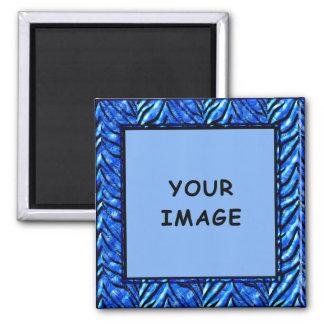 Colorful Blue Photo Frame Magnet