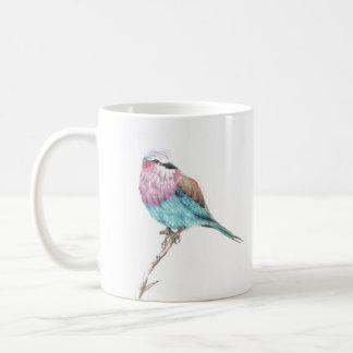 Colorful Blue & Pink Perching Song Bird Coffee Mug
