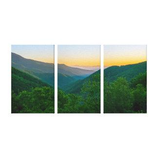Colorful Blue Ridge Mountains Canvas Print
