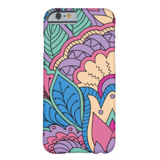 colorful blue zen pattern with Lotus and sends it Barely There iPhone 6 Case