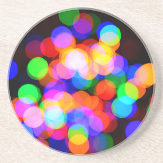 Colorful blurred lights coaster