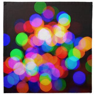 Colorful blurred lights napkin