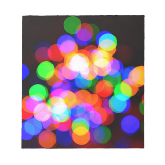 Colorful blurred lights notepad