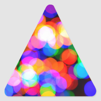 Colorful blurred lights triangle sticker