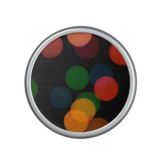 Colorful blurry dreamlike bokeh pattern speaker