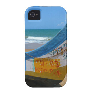 Colorful Boat on Sandy Beach Ocean Scene iPhone 4/4S Covers