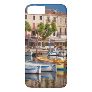 Colorful boats in the small harbor iPhone 7 plus case
